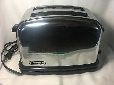 $25 • Buy DeLonghi Stainless Steel 2 Slice Toaster CT12 RETRO Style Working