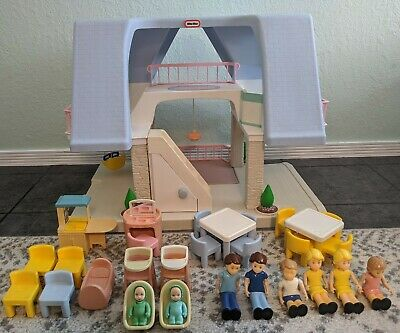 $220 • Buy Vintage Little Tikes Blue Roof Dollhouse With Accessories!