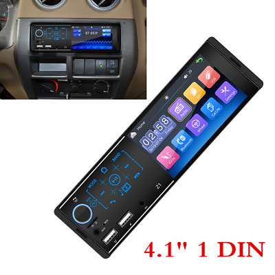 $53.90 • Buy 4.1  1 DIN Car Multimedia FM Radio MP5 Player HD Touch Screen For IOS Android