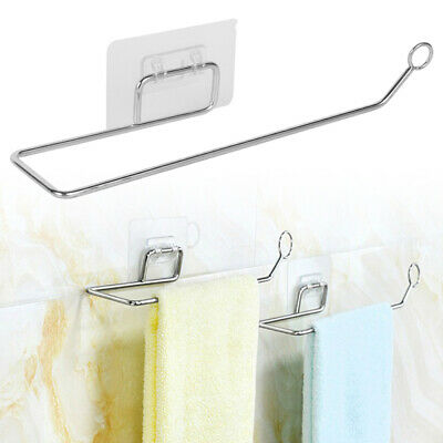 AU13.99 • Buy Kitchen Roll Holder Wall Mounted Self-Adhesive Tissue Paper Towel Rack Hanger