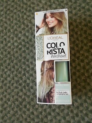 L'Oreal Colorista Washout Semi Permanent Hair Colour - Mint • 4.75£