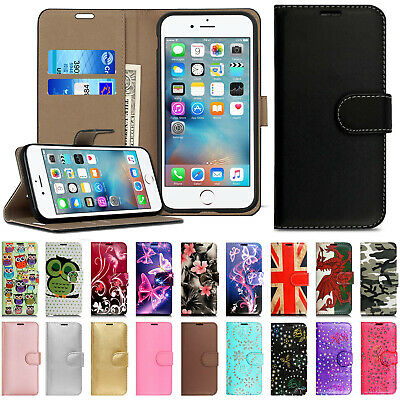Case For IPhone 6 6s 7 8 Real Genuine Leather Flip Wallet Magnetic Phone Cover  • 3.99£