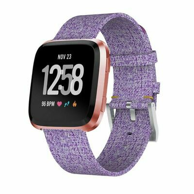 $ CDN8.23 • Buy Woven Fabric Replacement Wristband Strap Watch Band For Fitbit Versa 2/1- Purple