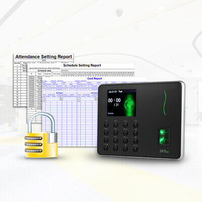 AU150 • Buy Time Attendance Fingerprint Time Clock NO Monthly Fees New For Small Business