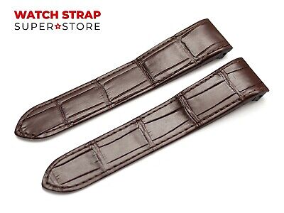 For CARTIER Santos Watch Leather Brown Strap Band 20mm 23mm Buckle Clasp Pins • 19.50£