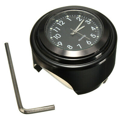 $9.69 • Buy 22-25mm Motorcycle Bike Handlebar Mount Black Dial Clock Watch For Harley New