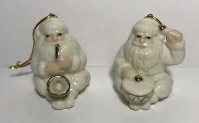 $ CDN17.69 • Buy Vintage Pair Porcelain Santa Claus Playing Drums Saxophone Christmas Ornaments
