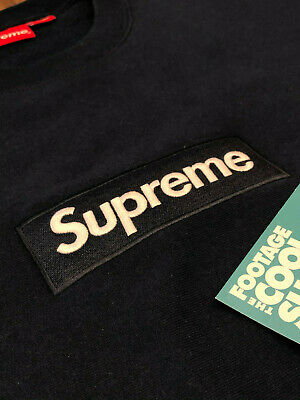 $ CDN866.70 • Buy 2018 Fw18 Supreme Box Logo Crewneck Sweatshirt Navy Blue Off White Cdg Xl