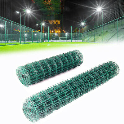 Green Metal Wire Mesh PVC Coated Chicken Fencing Rabbit Aviary Fence 10/20m Roll • 34.74£
