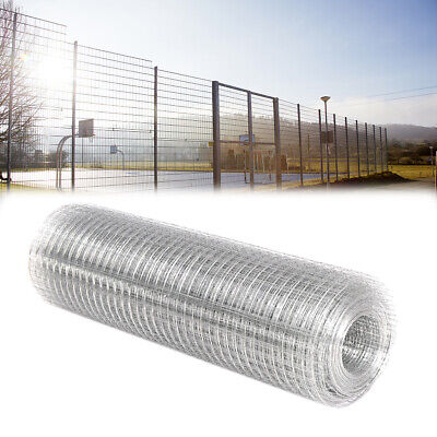 15/30M Galvanised Welded Wire Mesh Roll Chicken Run Rabbit Fencing Aviary Fence • 30.95£