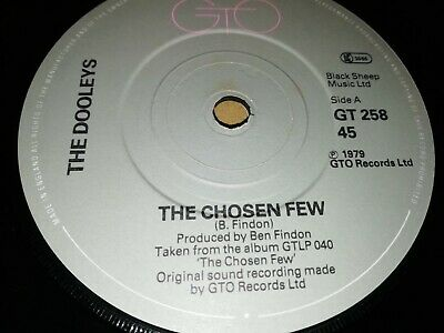 The Dooleys * The Chosen Few * 7  Single 1979 Excellent Gto  • 2.99£