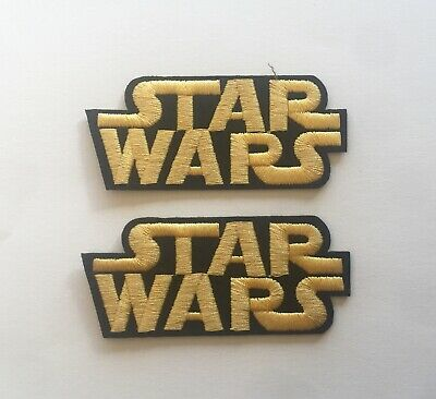 £2.99 • Buy Set Of 2 Star Wars Iron/ Sew On Full Embroidered Patch Appliqués Badge