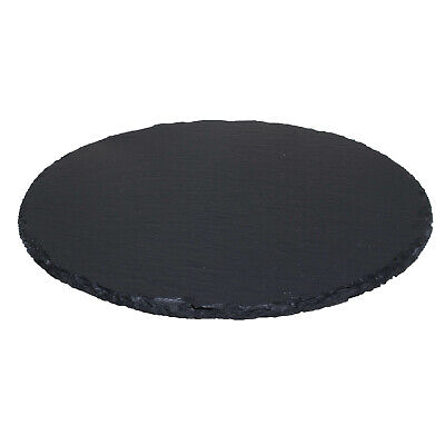 30cm Natural Slate Lazy Susan Rotating Revolving Round Serving Plate Table Tray • 15.95£