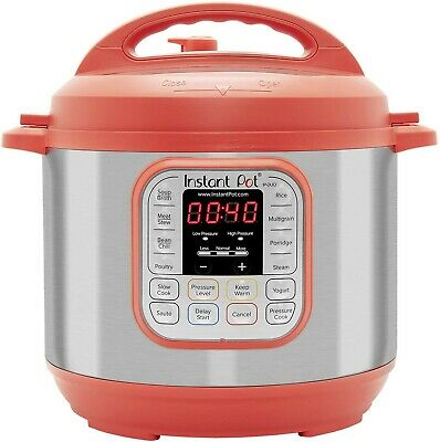 $80 • Buy Instant Pot Duo Red 60, 6 Qt 7 In 1 Programmable Pressure Cooker, Red