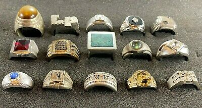 $ CDN210.51 • Buy 15 Sterling Silver .925 Mens Rings. Some With Stones. 139.9 Gm Total. Lot 10