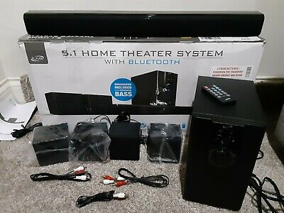 $63.99 • Buy ILive 5.1 Home Theater System With Bluetooth, Wall Mountable, 26 Inch Speaker