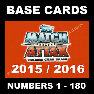 £0.99 • Buy Match Attax 2015/16 15/16 Premier League BASE CARDS 2015 / 2016 1-180 TOPPS