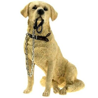 £16.99 • Buy Golden Labrador Ornament Sitting Dog With Lead For Walkies Gift Boxed Present