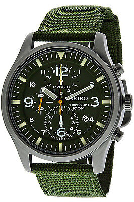 $ CDN213.32 • Buy SEIKO SNDA27P1,Men's CHRONOGRAPH,Military,STAINLESS STEEL CASE,100m WR,SNDA27