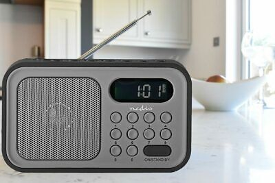 £9.29 • Buy Portable Clock Radio Rechargeable FM Alarm Snooze And 50 Presets