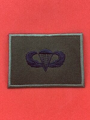 Us Army Olive Black Subdued Parachute Wings Para Wings Airborne Forces Insignia • 2.99£