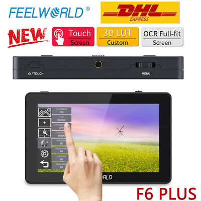 AU191.92 • Buy New FEELWORLD F6 PLUS 5.5' IPS On Camera DSLR Field Monitor 3D LUT Touch Screen