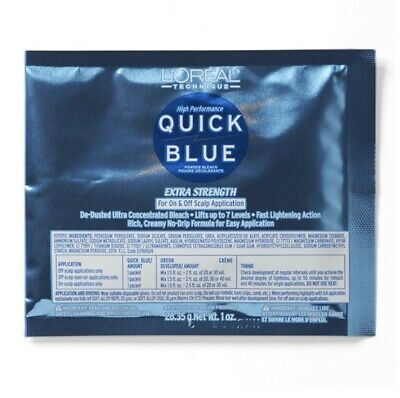 $2.99 • Buy L'OREAL High Performance Quick Blue Powder Bleach Extra Strength 1 Oz Pack