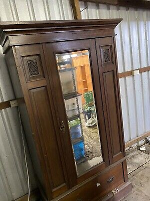 AU200 • Buy Antique Wardrobe / Armoire With Mirror