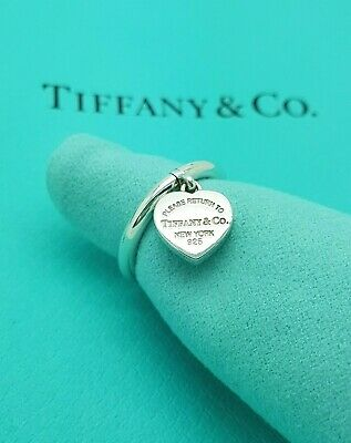 Return To Tiffany & Co. Heart Tag Silver Ring Size I 1/2 UK Or 4.5 US, 48 EU • 247.24£