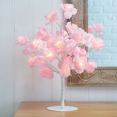 New Beautiful Pink Rose Bouquet 32 LED's Tree Table Lamp Lights Wedding Party • 22.75£