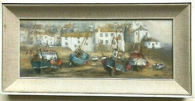 Ellie O Shea The Harbour St Ives Original Oil Painting • 125£