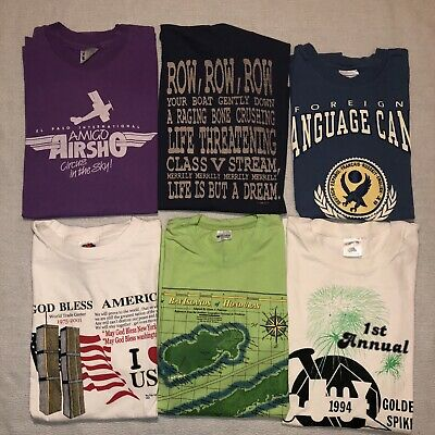 $ CDN51.52 • Buy Vintage T-Shirt Lot Of 6 Graphic 90s Bundle