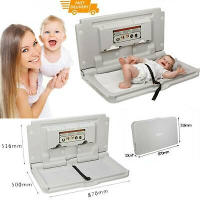 £124.85 • Buy Commercial Baby Changing Table Unit Wall Mount Infant Room Nursery Care Station