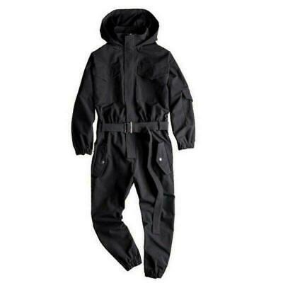 $69.99 • Buy Runway Fashion Mens Overalls Jumpsuit Trousers Hooded Street Leisure Loose Pants
