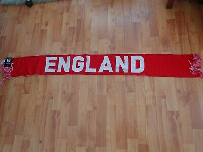 Classic England National Team Football Supporters Double Sided Scarf • 8.99£