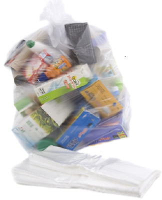 £4.99 • Buy Bin Liners Rubbish Bags Recycling Sack Refuse Strong Size 18x2 X39 L Clear 10Pcs