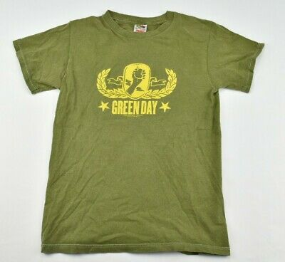 $ CDN16.89 • Buy Green Day Vintage Gold Crest American Idiot 2005 Green Short Sleeves Small 196C2