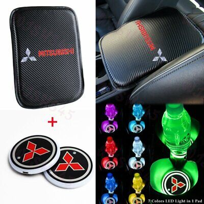 $22.43 • Buy For MITSUBISHI Center Console Armrest Cushion Mat Pad Cover With Cup Coaster Set