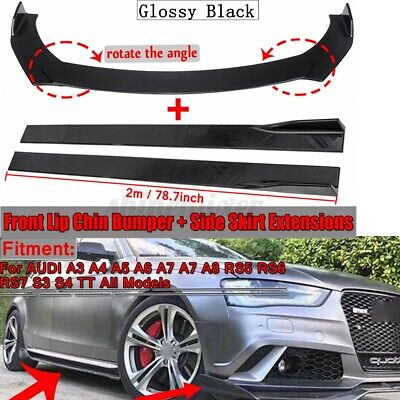 $143.99 • Buy Front Bumper Lip Splitter +2m Side Skirts Body Kit For AUDI A3 A4 A5 A6 A7 A7 Q3