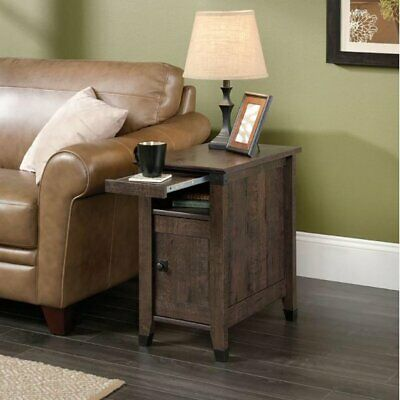 $140.99 • Buy Small Living Room Side End Table Narrow Rustic Coffee Shelf Bedroom Night Stand