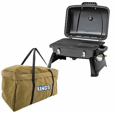 AU153.95 • Buy Gasmate Voyager Portable BBQ Hotplate/Grill + Kings Campfire BBQ Canvas Bag