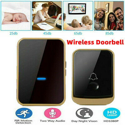 Wireless Digital Door Bell Wall Plug In Waterproof Cordless Door Chime Kit • 11.99£