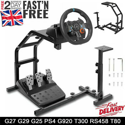 Racing Simulator Steering Wheel Stand Gameing Pro For G29 G920 T300RS T80 UK • 39.98£