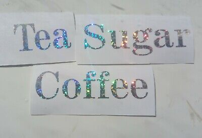 Kitchen Storage Labels Canisters/jars Tea Coffee Sugar Other Colours Available • 2.40£