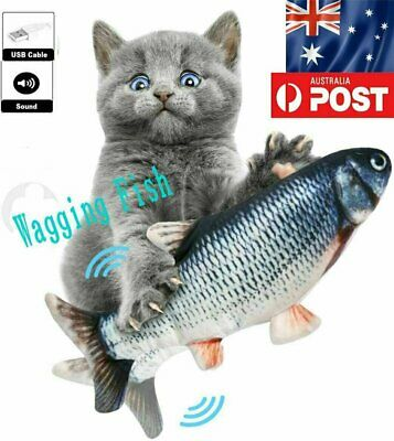 AU11.62 • Buy Electric Dancing Fish Kicker Cat Toy Wagging Realistic Moves AU STOCK