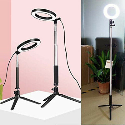 20 -50  LED Ring Light Dimmable Studio Camera Shoot Photo Video Live Lamp Kit  • 20.85£
