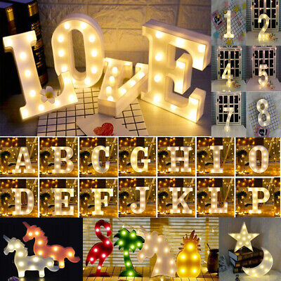 £1.15 • Buy ALPHABET LETTERS LED LIGHT UP NUMBERS WHITE PLASTIC LETTERS STANDING Sign Decor&