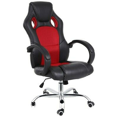 AU109 • Buy Racing Office Chair Seat Executive Computer Gaming Deluxe Pu Leather Black Red