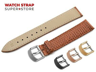 For OMEGA Watch Brown Strap Band Genuine Leather SNAKE Style Buckle Clasp + Pins • 9.49£