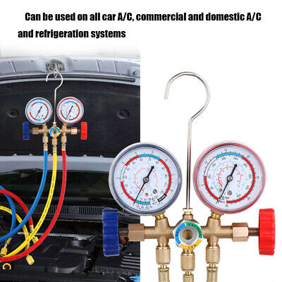 Air Conditioning AC Diagnostic A/C Manifold Gauge Tool Set Refrigeration UK K0W4 • 14.24£